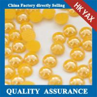 Buy cheap half Round pearl for clothing,hotfix Half round ceramic pearls,wholesale half Round Pearls 0825 from wholesalers