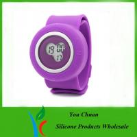 Colorful Silicone Strap Watches, Slap Silicon Watch For Hour / Minute / Second Display Manufactures