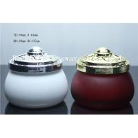 Quality spray color glass candle jar,candle jar with metal lids,high quality glass candle jar for sale