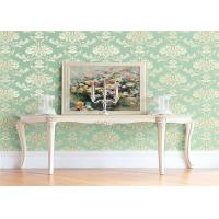 High End Flower Feature Wall Wallpaper Fireproof With European Style Manufactures