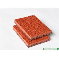 Full PU Mixed Recycled Running Track Flooring / Rubber Playground Mats Manufactures