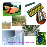 "Green White Yellow Color 5/16"" x 4 feet long FRP Tomato Stake Fiberglass Stick Manufactures"