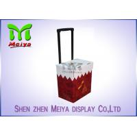 Foldable Corrugated Material Advertising Carton Trolley With Retractable Handle And Wheels Manufactures
