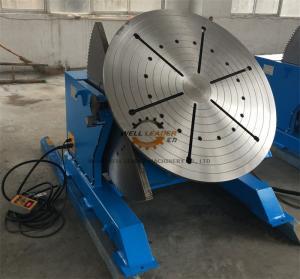 2 Ton Tilting Welding Table , Vessel Head Welding Positioner Turntable Manufactures