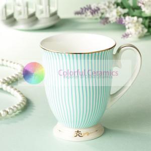 ceramic coffee cup with lid 300ml decal gold rim foot mug milk mug watre cups custom coffee mugs Manufactures