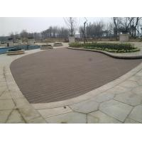 Customized Scratch Resistant Deck Boards Composite Wood Plastic / Engineered Flooring Manufactures