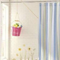 China sheet curtain  Bring vibrant, versatile stripes to the bath. Our cotton canvas shower curtain is yarn-dyed with vertical stripes in tonal shades of blue and green or pink with green and khaki accents. Use with our Roller Rings and Vinyl Liner (sold separa on sale