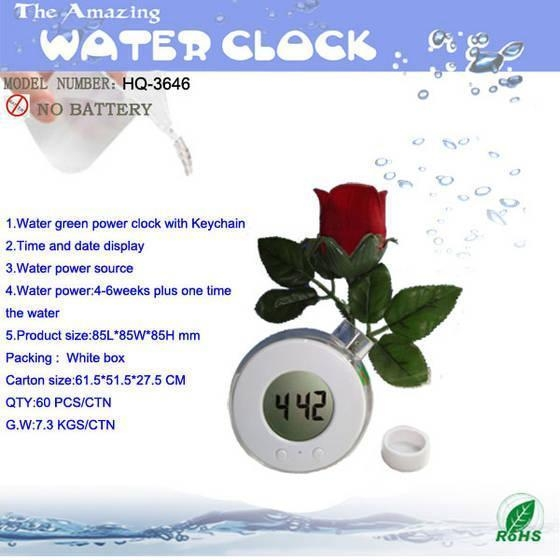 Quality Water Powered Clcok for sale
