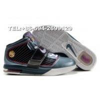 407701-001 nike zoom soldier IV James basketball shoes(black/white/grey) Manufactures