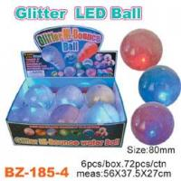 Glitter Bouncing Ball with Flashing Led Manufactures
