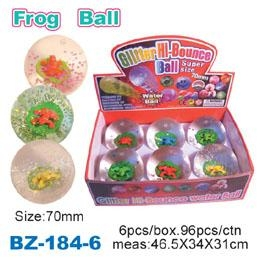 Quality Glitter Bouncing Ball with Frog for sale