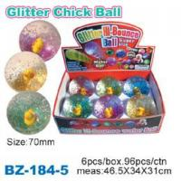 Glitter Bouncing Ball with Chick Manufactures