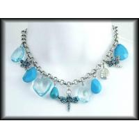 Buy cheap Necklaces Turquoise 'n' Silver Model :N-055 from wholesalers