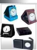 Quality leather travel alarm clock for sale