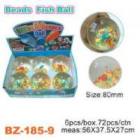 Colorful Beads Bouncing Ball With Fish Manufactures