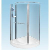 1250 x 1000 Quadrant with Shelves Right Hand - Shower Enclosures Manufactures