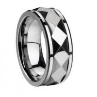 China faceted mens tungsten carbide ring on sale