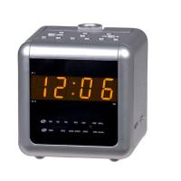RADIO AM/FM dual alarm projection clock radio with 0.9inches amber LED display, natural sound and aux-in function Model:E-C171 Manufactures