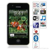 China iPhone style GPS unlocked mobile phone G500 with tv wifi +free 2GB card on sale