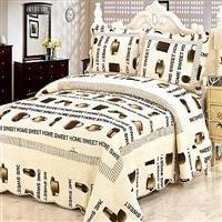 Printed quilted bed cover---Coffee cup Manufactures