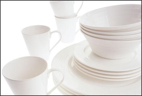 China Maxwell and Williams White Cirque 16 Piece Flared Dinner Set