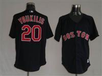 China Boston Red Sox 20 Youkilis Black jersey on sale