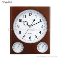 Wooden Weather Station Wall Clock Manufactures
