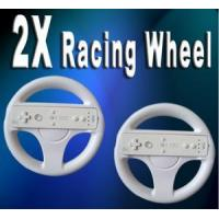 Video Games 2 X ROUND STEERING WHEEL FOR NINTENDO WII CONTROLLER Manufactures