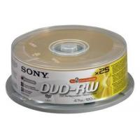 Sony Sony DVD+RW 25 Pack Spindle of 4.7GB DiscsSony DVD+RW 25 Pack Spindle of 4.7GB Discs Manufactures