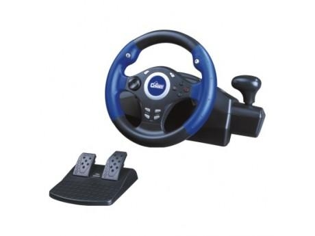 Quality USB/PS2/PS1/PSX 3 in 1 steering wheel with sucker for fixed for sale