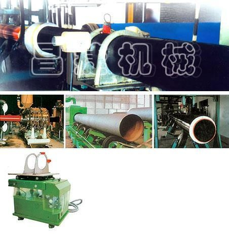 China HDPE One /Two step method polyurethane heat preservation pipe production line