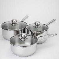 China 6 Piece Stainless Steel Saucepan Set on sale