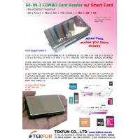 China SPC-13A: 60in1 Combo Card Reader w/ SD(7 in 1) + MS(3 in 1) + micro SD + xD + CF + M2 on sale