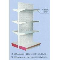 China Supermarket Shelves Perforated back panel shelf (with Glass layers) on sale