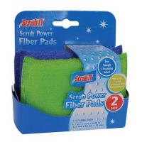 Cleaning series 2 Pack Scrub Power Fiber Pads Manufactures