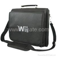 China Wii Game Console Controller Nunchuck Carry Bag - Black on sale