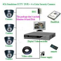 China CCTV PRODUCTS 4Ch MJPEG Standalone CCTV DVR + 4 x Color Dome Security Cameras on sale