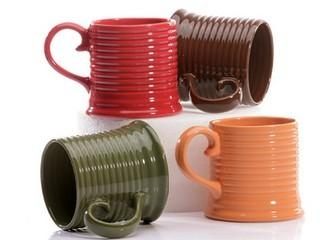 Quality Stoneware banded mug, 14 oz for sale