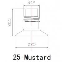 Buy cheap 25mm Mustard Tube from wholesalers