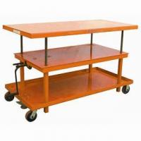 China Hand-hydraulic Post Lift Table on sale