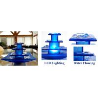 China Glass indoor water fountain(blue) BST025G-B on sale