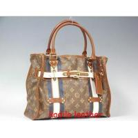 China LV Louis Vuitton handbag purse Monogram canvas Rayures Tote PM m56385 red Bag on sale