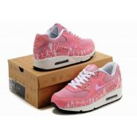 China Women Nike Air Max 90 Running shoes White/Pink on sale