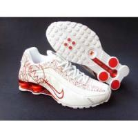 Nike Shox R4 womens shoes (white/red) Manufactures