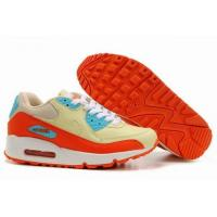 China Women Nike Air Max 90 - red-yellow-grey on sale