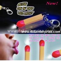 Blowing On and Off Keychain Light DK-P2001 Manufactures