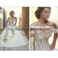 beautiful flower wedding gown bridal gown N-43 Manufactures