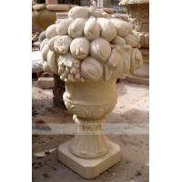 China marble carving-figure flowerpot on sale