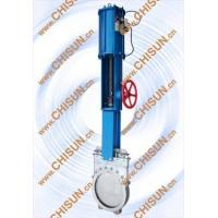 pneumatic with hand wheel kinfe gate valve Manufactures
