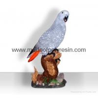 Polyresin African grey parrot crafts/figurine/figure Manufactures